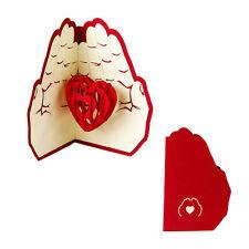 3D Pop Up Greeting Cards Love in Hands Happy Anniversary Valentine Birthday