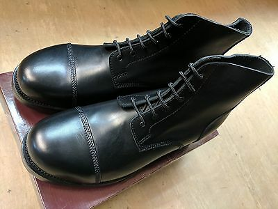 Original British Army Issue Black Leather Parade Ammo Studded Boots Size 15L UK