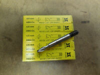3 Hydra Tools 4.5mm Metric 2 Flutes Slot Drill Threaded End Mills Endmills