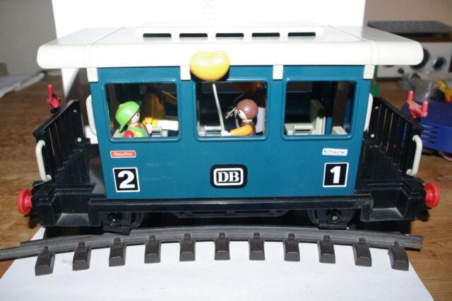 Playmobil LGB Personenwagen DB Spur G  blau mit Figuren  BW