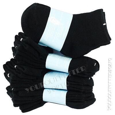 0-2 Kid/'s Toddler Anklet Cut Solid Black Socks Spandex Cotton Boy/'s Girl/'s New
