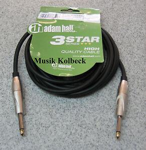 Adam-Hall-Kabel-3-Star-Serie-Instrumentenkabel-3m-6-3-mm-Klinke-K3IPP0300