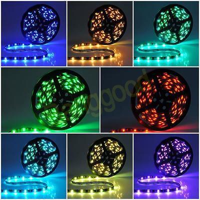 5M 300/600 LED 5050/3528 SMD LED Strip light Waterproof Flexible Lamp 12V DC US