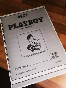 Playboy 35th Anniversary Pinball Data East Operations Manual 26 PAGES SEE BELOW