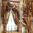 luxury royal court villa high-precision jacquard curtains blackout curtain