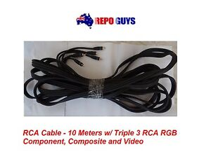 RCA-Cable-10-Meters-w-Triple-3-RCA-RGB-Component-Composite-and-Video