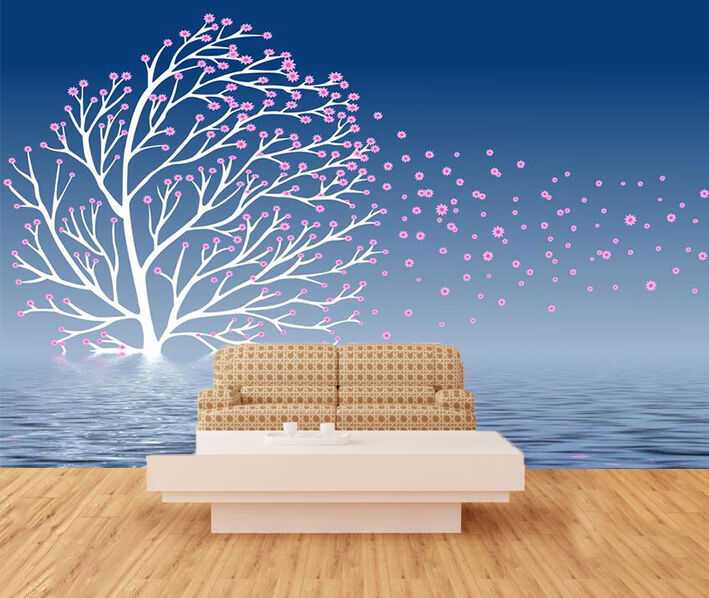 3D Flying Flowers 578 WallPaper Murals Wall Print Decal Wall Deco AJ WALLPAPER