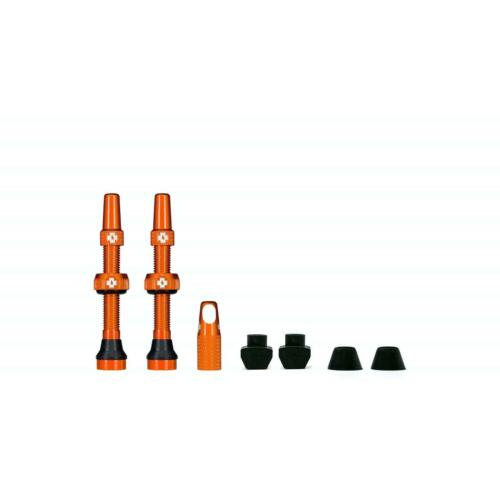 Muc-Off Tubeless Presta Valve Kit 44mm-Orange