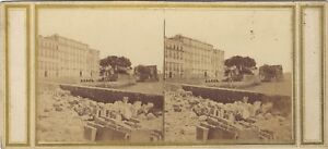 Napoli-Italia-Foto-Stereo-Vintage-Albumina-Ca-1858