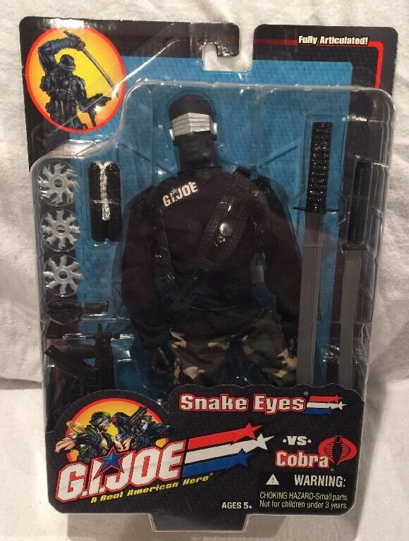 2003 TRU & Hasbro Exclusive  GI Joe vs COBRA - 12  Snake Eyes (v3), NEW, MOC