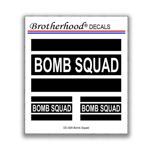 Bomb Squad Law Enforcement Police Sheriff Military Decals Collection