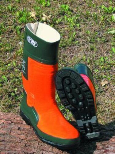 Schnittschutz-Gummistiefel orange KWF Forststiefel Schnittschutzstiefel Klasse 3