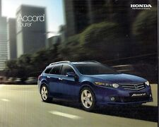 Honda Accord Tourer 2008-09 UK Market Sales Brochure ES EX GT 2.0i 2.4i 2.2D