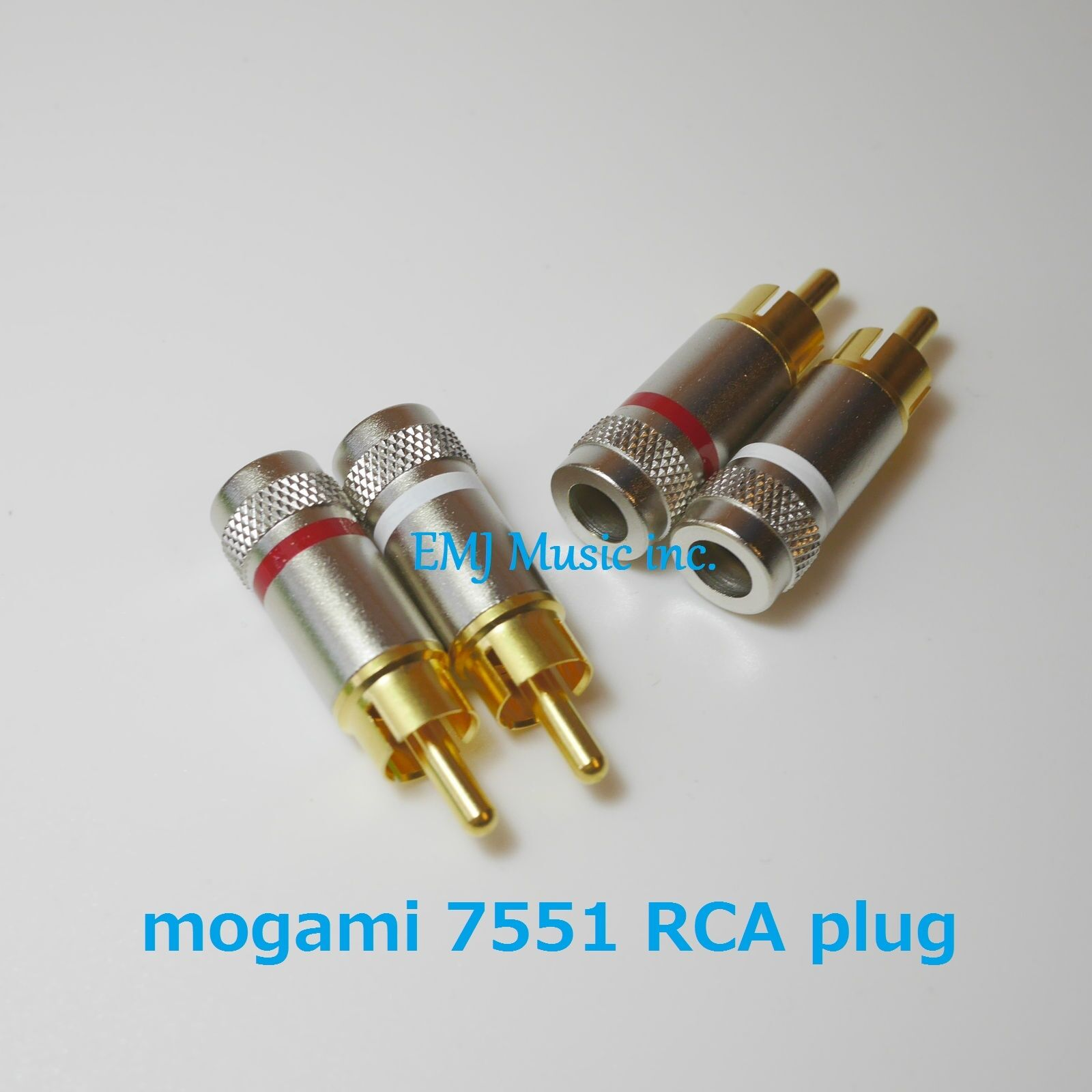 Mogami 7551 RCA connectors 8 pairs (red&white) Made in Japan New Genuine F S