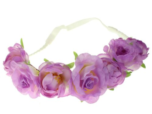 Lilac Rose Garland Festival Head Band