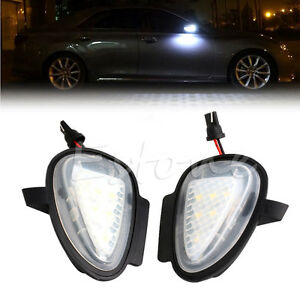 Direct Fit White Led Under Side Mirror Puddle Lights For