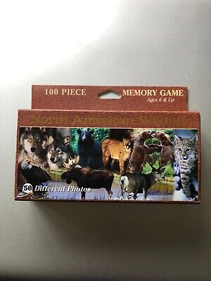 North American Wildlife 100 Piece Memory Card Game Impact Photographics