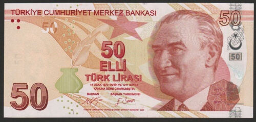 Turkey 50 Lira 2009 2017 UNC