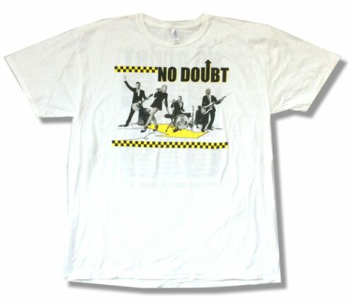 No Doubt Checkers North American Tour 2009 White T Shirt New Official Soft