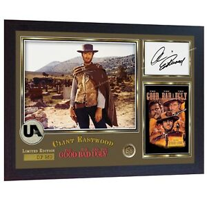 Clint-Eastwood-signed-autograph-The-Good-the-Bad-and-the-Ugly-photo-print-Framed