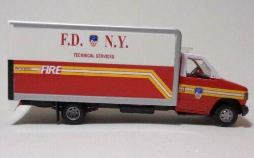 1//87 h0 nuevo Busch 41856 ford e-350 f.d.n.y embalaje original bomberos New York