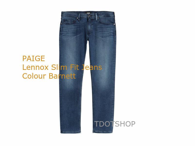 PAIGE Lennox Slim Fit Jeans  Barnett Size 33 Inseam 32