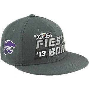 huge discount e87f8 f63fd Image is loading Kansas-State-Football-2013-Fiesta-Bowl-snapback-hat-