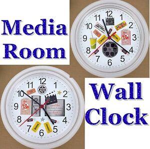 media room wall clock popcorn movies cinema hollywood bollywood date