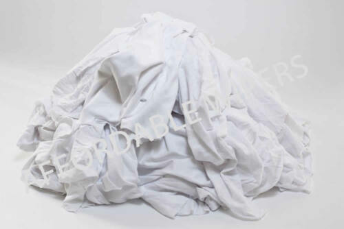 ~ 250 Pieces 25 LBS BOX WHITE KNIT SHOP CLEANING TOWELS WIPING RAGS//CLOTH