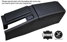 GREY STICH CENTRE CONSOLE & ARMREST LEATHER COVERS FOR HONDA CRX DEL SOL 92-98