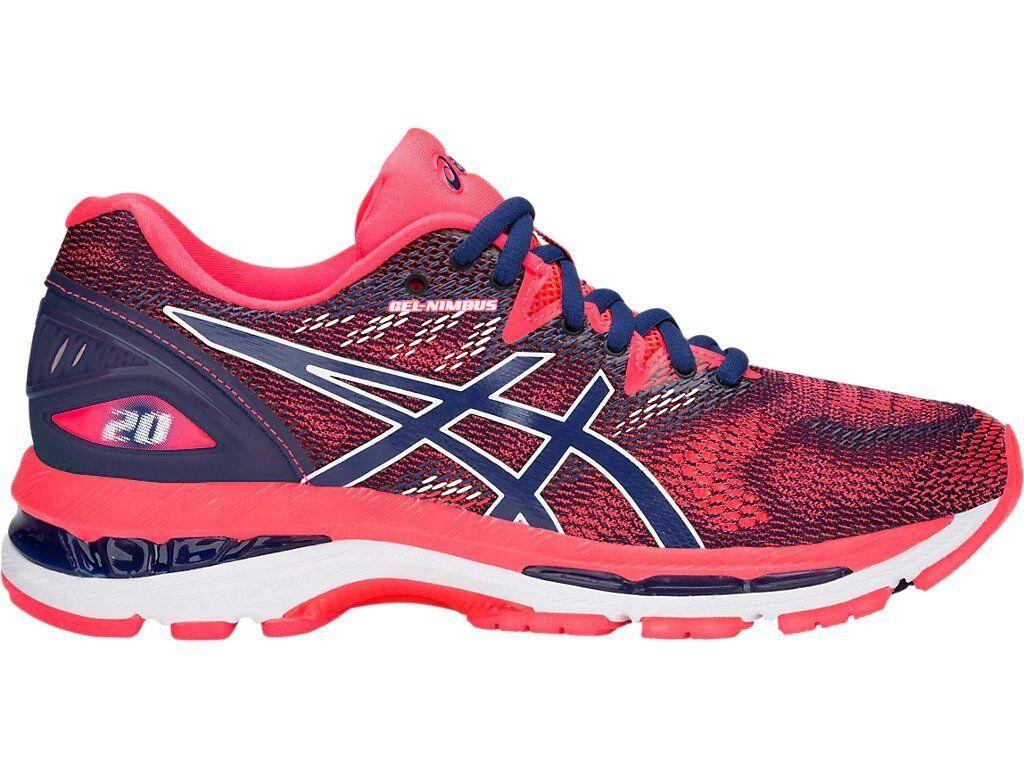 Asics Gel Nimbus 20 W Damenschuhe Running Schuhe Scarpa Blu T850N-400 Blau Print