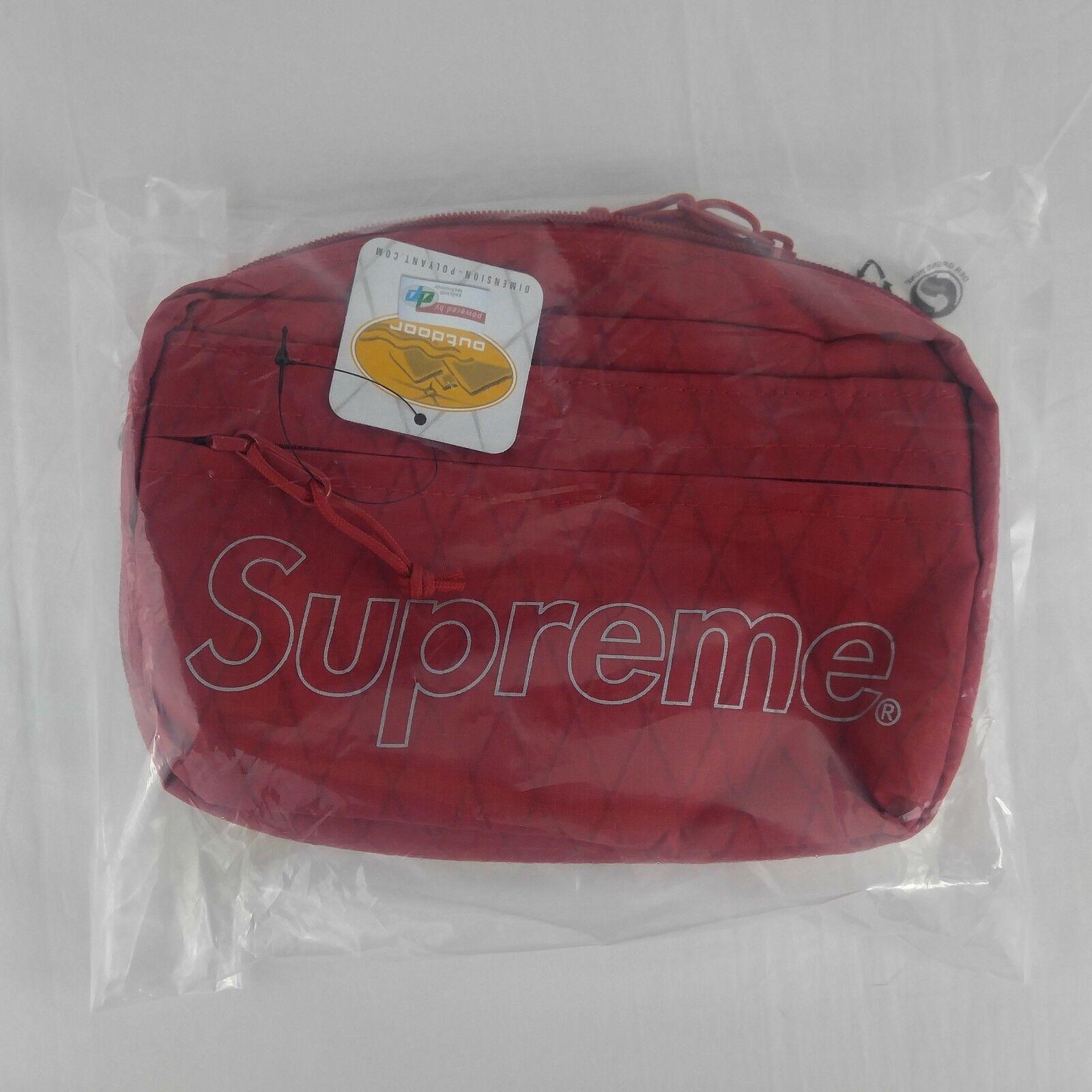 Supreme Fw18 Shoulder Bag Red 3m Reflective DP Dimension Polyant