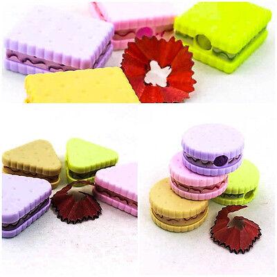 UPICK Cute Cookie Cracker Snack Pencil Sharpener Stationery School Office Supply