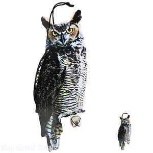 Esschert Design FB142 Owl Scare Crows Decoy Garden Keep Birds Away