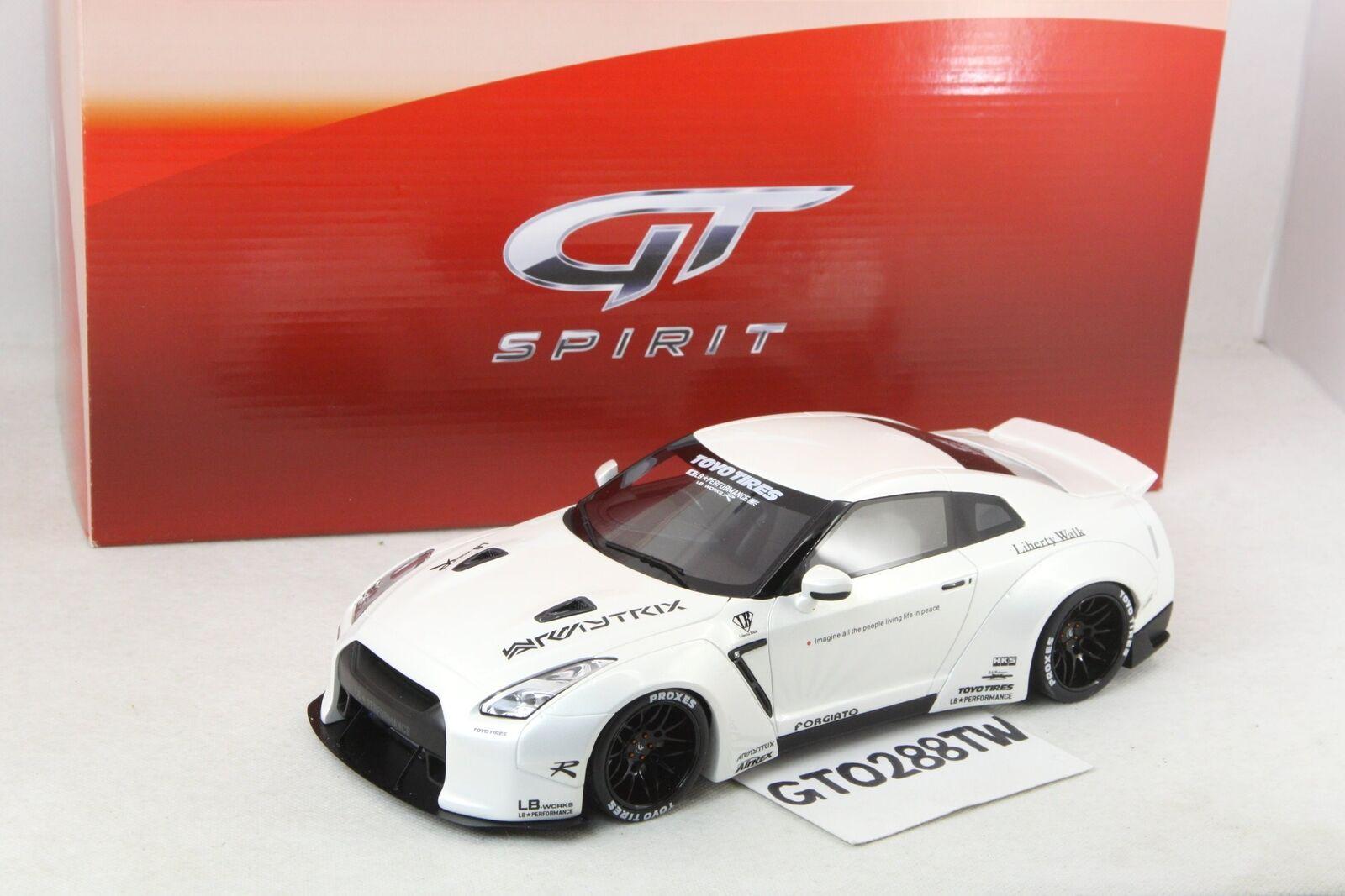 Nissan skyline gt - r - r 35 zutrifft - geist 1,18 b werke leistung (pearl Weiß) gt125