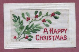 034-Happy-Christmas-034-B-E-F-1916-Silk-034-Chrissie-034-from-Father-Mistletoe-QT2