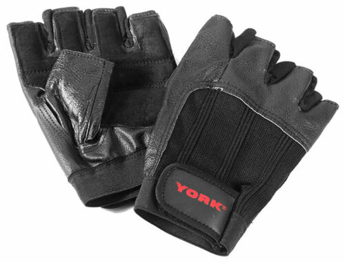 Two pairs York Leather Weightlifting Gloves size Large//Extra Large