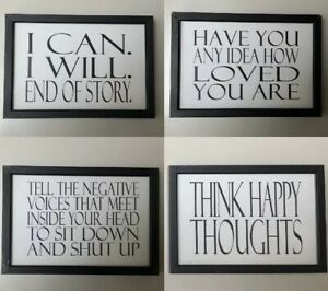 Details about Positive Framed Meme Picture Happy Motivational Words Black  White Quotes Office