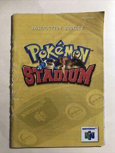 Pokemon Stadium Nintendo 64 Video Game Instruction Booklet Manual Book Only N64