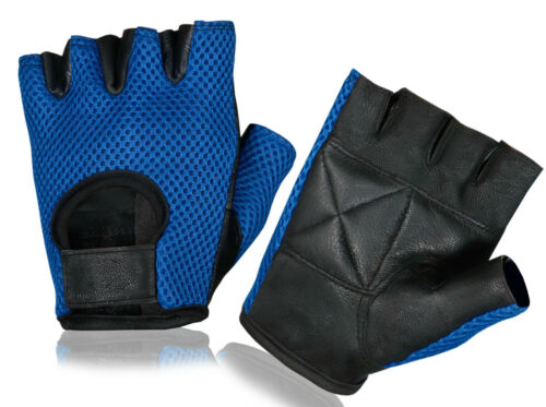 Bus Driving Leather Gloves Half Finger Weight Lifting Wheelchair Sports Cycling