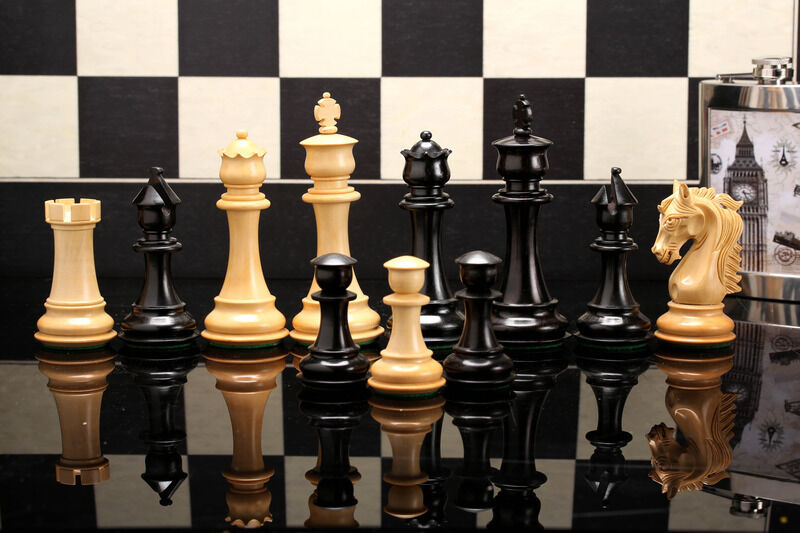 New Beautyfull Triple Weighted Weighted Weighted Staunton Chess Set Ebony Wood FREE P&P e5a269