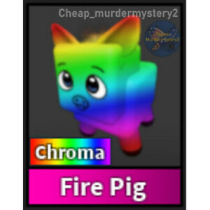 Murder Mystery 2 MM2 Chroma Fire Pig Roblox *FAST DELIVERY* Read Description