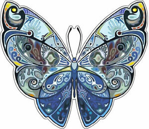 2 x Flower//Butterfly Vinyl Stickers decals,car,window,van 13 colors to choose