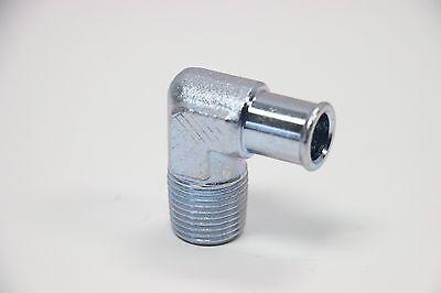 "90° 5/8"" Hose To 1/2"" NPT Zinc Steel Fitting Intake Manifold Heater Hose SBC 350"