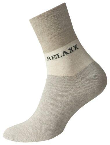8 Paia Calze Uomo Corto Calzini Relaxx Quarter Socks Beige Senza Elastico federale