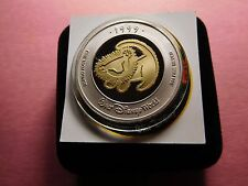 MICKEY MOUSE LION KING DISNEY WORLD 1999 CONVENTION RARE 999 SILVER GOLD COIN