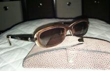 "Lucky Brand ""Lucky You"" Layla Plastic Eyeglasses Frames Carmel / Cream Swirl"