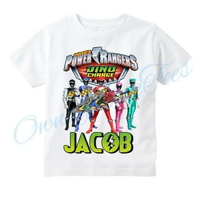 0833b400 Image is loading Power-Rangers-Dino-Charge-Custom-T-shirt-PERSONALIZE-