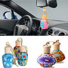 Hanging Flower Car Perfume Bottle Air Freshener Home Room Fragrance Diffuser Box