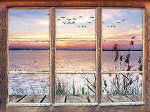 Steg Ausblick Aufs Meer 3d Look Fenster Wandtattoo Aufkleber